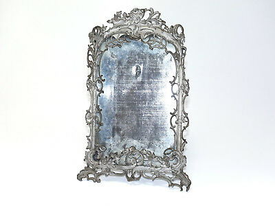 antiker alter Bilderrahmen Rokoko-Stil 1900 Zinn antik picture frame antique tin