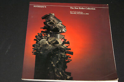 Sotheby's Auction Catalogue Tribal Art The Ben Heller Collection December 1983