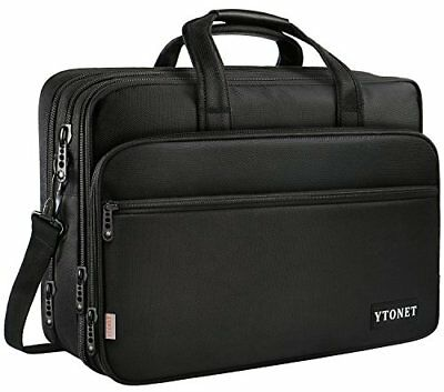 17 inch Laptop Bag Travel Briefcase Shoulder Water Resistant Business Messenger