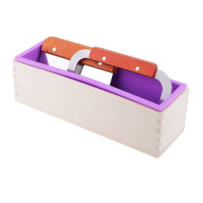 3pcs/set Wooden Silicone Soap Mold Mould with Soap Cake Cutter Slicer Tool