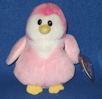 TY GLACIER the PENGUIN BEANIE BABY - MINT with MINT TAGS