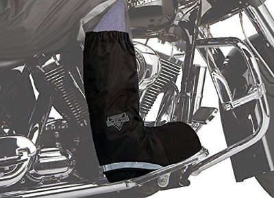NEW Waterproof Motorcycle Rain Boot Covers Black Large