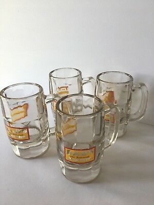 SET of 4 DAD'S OLD FASHIONED ROOT BEER MUGS For A Bar Or Man cave. GLASS