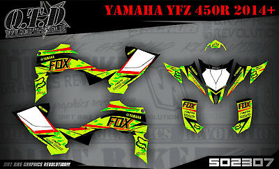 Scrub Dekor Kit Atv Yamaha Yfz 450R Ab 2014 Graphic Kit So2307 B