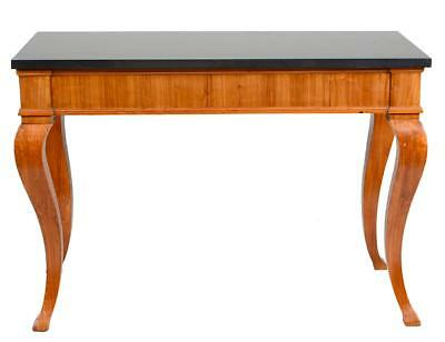 4.5 Feet Antique Satinwood Marble Top Biedermeier Style Swedish Console Table