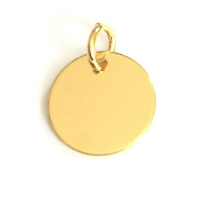 24K Gold plated Sterling Silver 10mm Disc Charm For Engraving PK1 PK5