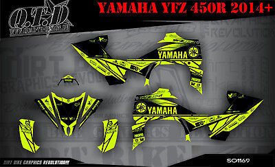Scrub Dekor Kit Atv Yamaha Yfz 450R Ab 2014 Graphic Kit So1169 Fluo B