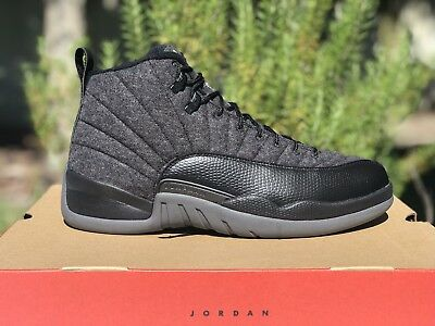 ec9466d75e5b3b NIB AIR JORDAN 12 XII RETRO WOOL 🔥 Men s Size 12 Receipt Gray Black 852627-