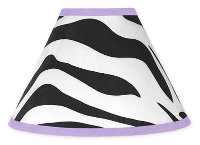 Sweet Jojo Designs Lamp Shade for Purple and Zebra Print Baby Kid Teen Bedding