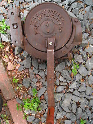 Rare Antique # 4 cast iron hand crank easy corn sheller F.B. Tait & Co.