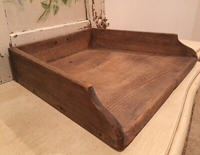 Rare Large Antique Vintage French Wood Chopping Board with Three Sides