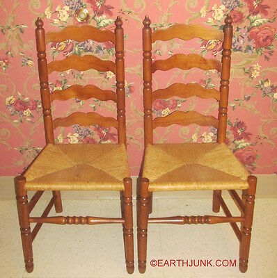 Tell City Ladderback Side Dining Room Chairs Andover Maple Wood 2312 Set if 2