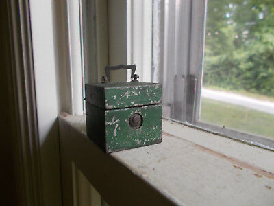 1860s NON SPILLING TRAVELERS' POCKET INKWELL WITH HAND BLOWN GLASS BOTTLE INSIDE