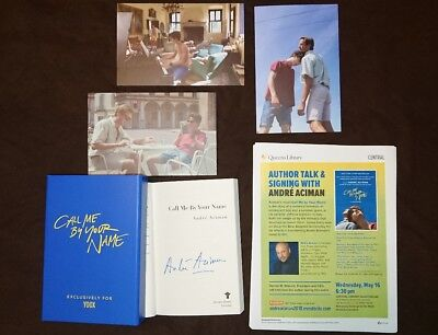 Signed Andre Aciman Call Me By Your Name Box Set Rare Paperback Book Post Cards