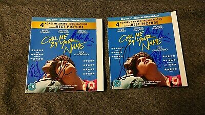 2x Signed Andre Aciman Call Me By Your Name BluRay UK Armie Hammer Chalamet