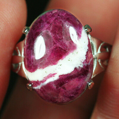 25CT 100% Natural 18K Gold Plated Red Green Bi Color Ruby In Zoisite Ring UDRG86