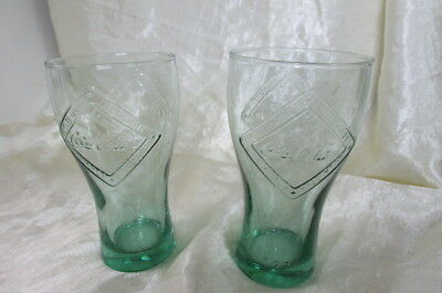 2 Coca Cola Glasses 1916  Made In France 360 Mls