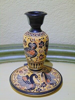 Ancient Greece Corinthian Period Reproduction Pottery/Hand Made/Owl/Signed