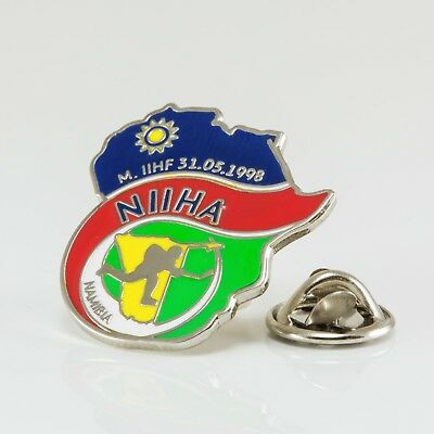 Ice Hockey Federation of Namibia pin, badge, lapel, hockey
