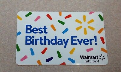 Collectible Walmart Birthday Gift Card NO VALUE