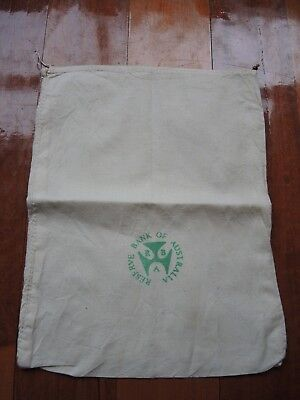 Vintage Fabric Reserve Bank Australia material coin change bag FREE POSTAGE