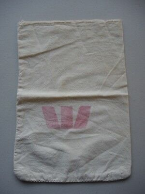 Fabric Westpac material coin change bag FREE POSTAGE