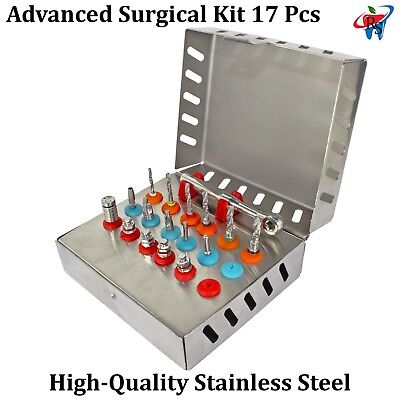Dental Implant Abutment Advanced Surgical Kit Tool Instrument Universal 17PCS