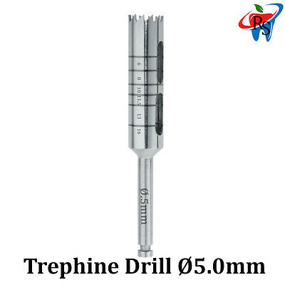 Dental Implant Trephine Drill Surgical Instrument Irrigation Bone Graft 5.0mm