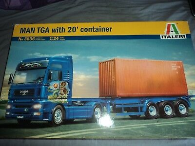 ITALERI MAN TGA with 20' CONTAINER (NEW FACTORY SEALED)