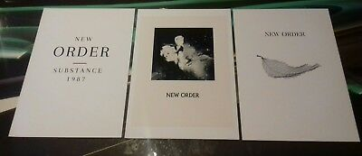 New Order set of 3 A3 Art print poster ++quality heavy canvas paper