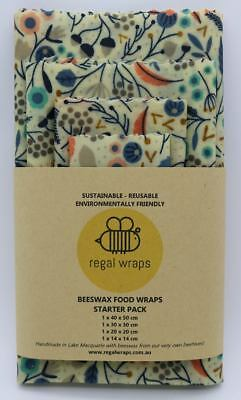 Beeswax Food Wraps 🐝 Eco Friendly 🐝 FOREST FLOOR 🐝 Reusable Kitchen Wraps