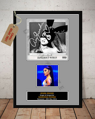 Ariana Grande Dangerous Woman Autographed Signed Music Photo Print