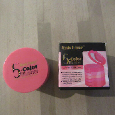 Music Flower - 5-Color Blusher - Professional Makeup 5 Blushers In One!