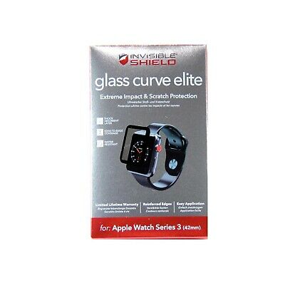 Zagg Invisible Shield For Apple Watch Series 3 42Mm Glass Curve Elite 200101819