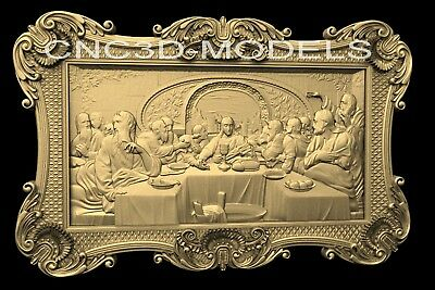 3D Model STL for CNC Router Engraver Carving Artcam Aspire Last Supper Pano n461
