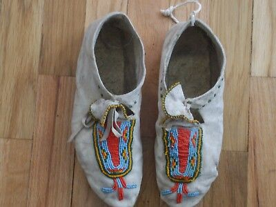earley Plains Indian Beaded Hide Moccasins