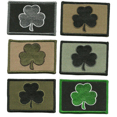 """BuckUp Tactical Morale Patch Hook Clover Irish Patches 3x2"""""""