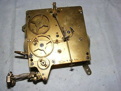 Vintage Kienzle Mantle Clock Brass Movement Heavy Striking 43775 Parts Restore