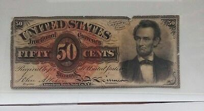 "Pcgs Au 50--- Fr1374. Fifty Cent 4Th Issue ""lincoln"" Fractional"