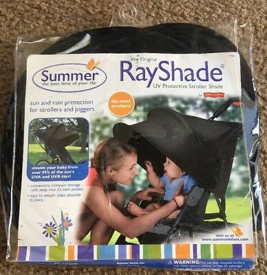 Baby Stroller Shade UV Protective RayShade Sun and Rain Protection