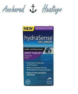 HydraSense Night Therapy Eye Drops Dry Eyes 10mL Preservative Free