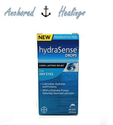 HydraSense For Dry Eyes Long Lasting Eye Drops Dry Eyes 10mL Preservative Free