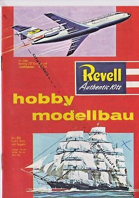 REVELL - Modellbau - ORIGINAL KATALOG - 1962 - 16 Farbseiten - Authentic Kits