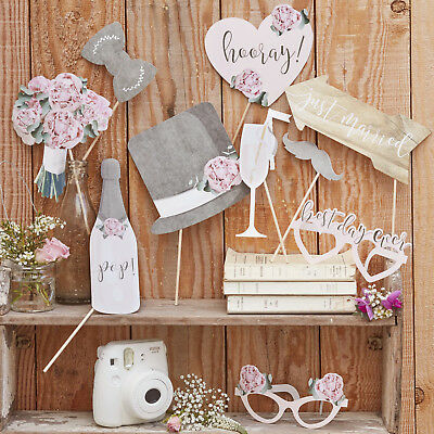 Ginger Ray Photo Booth Set 10 tlg. Hochzeit Rustic Country