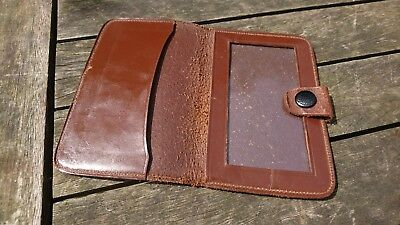 old vintage brown leather wallet for driving license ID travel
