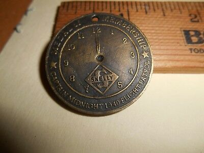 1940 Captain Midnight SKELLY Oil Aviation Spinner Coin/Token Advertising Premium