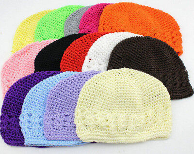 Kufi Knit Crochet Cap For Infant & Toddler, New, Many Colors, Soft, Low Price!