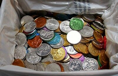 10+ pounds of mixed Mardi Gras doubloons - CLEAN Great to Throw or Collect!