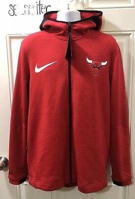 d49e830f9f7 Men s Nike NBA Chicago Bulls Therma Flex Showtime Hoodie Red 899830-657  Size L