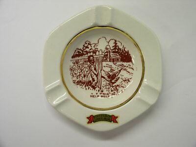 Vintage Humorous Ceramic ASHTRAY  Funny Cartoon Souvenir of Cumberland Md